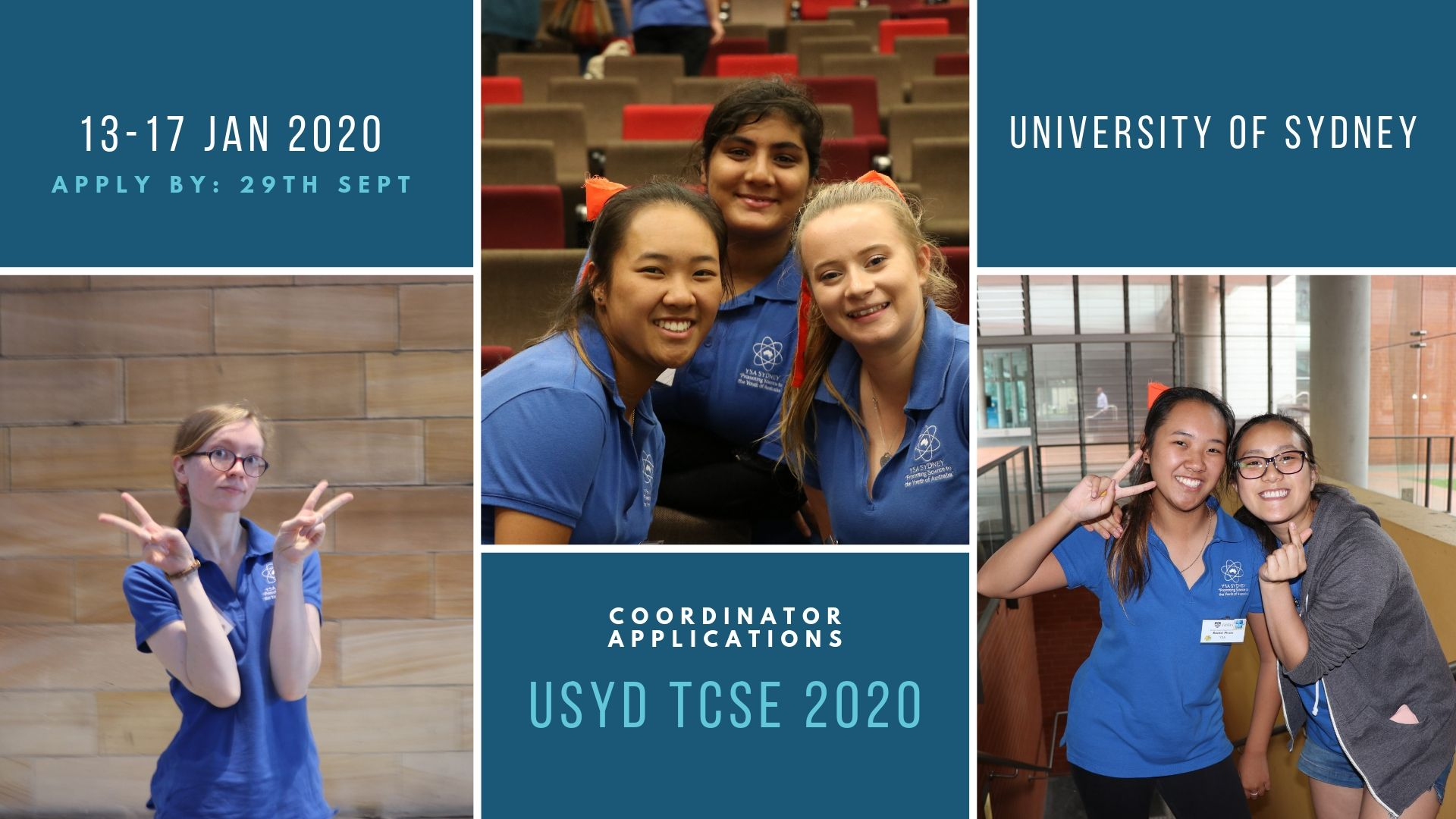 USyd TCSE 2020 Coordinator Applications