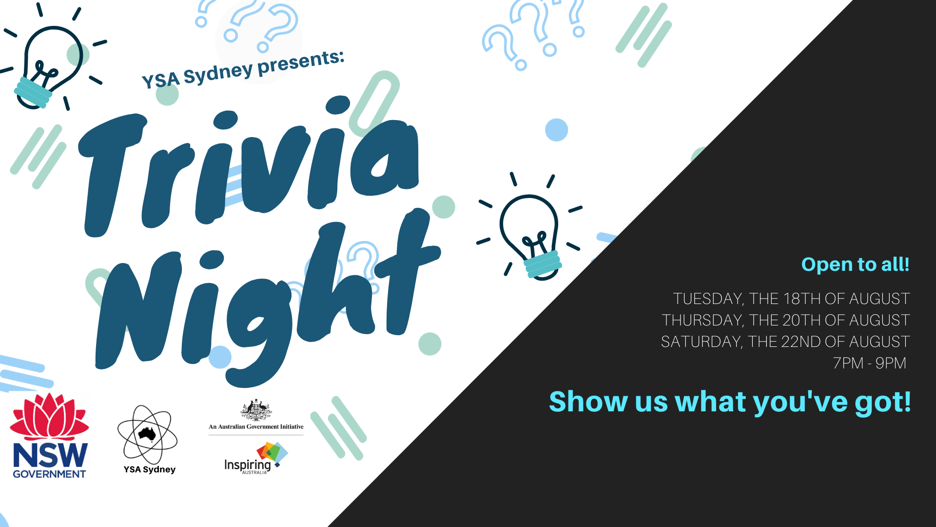2020 National Science Week Trivia Nights